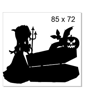 coffin bat witch 85 x 72.mm packs of 4  Chipboard or acrylic see
